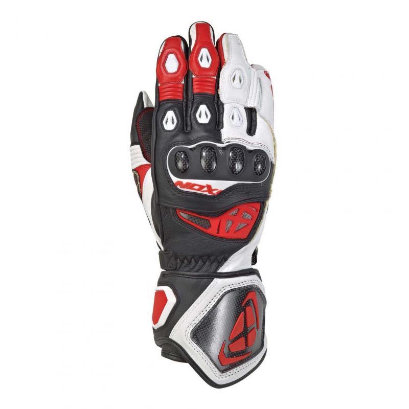 Gants été cuir Ixon RS Genius 2 noir/blanc/rouge