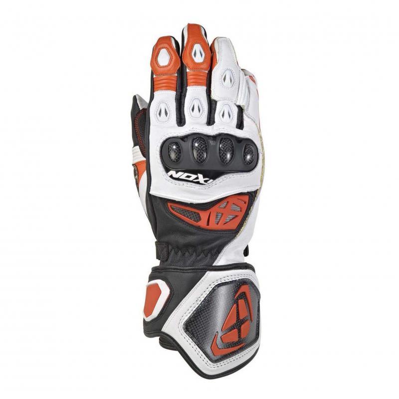 Gants été cuir Ixon RS Genius 2 noir/blanc/orange