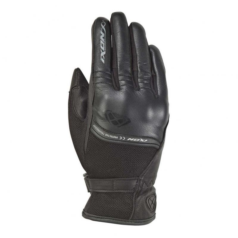 Gants été cuir/textile femme Ixon RS Shine 2 noir