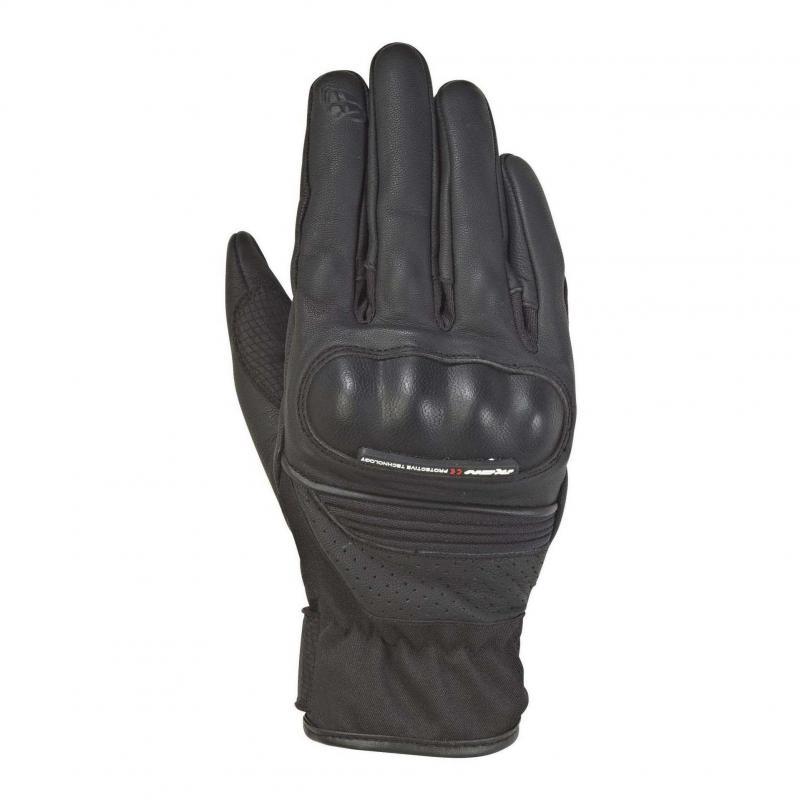 Gants été cuir/textile Ixon RS Hunt 2 noir