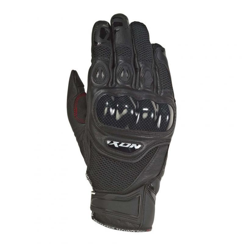 Gants été cuir/textile Ixon RS Recon Air noir