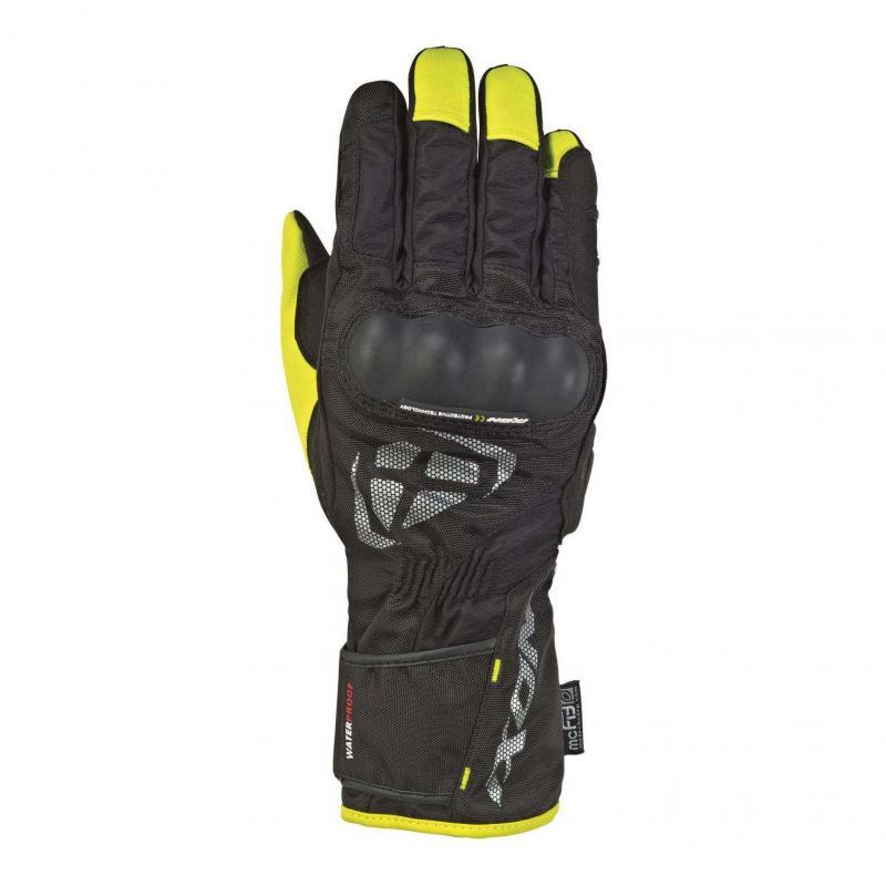 Gants été textile Ixon RS Tourer noir/jaune vif