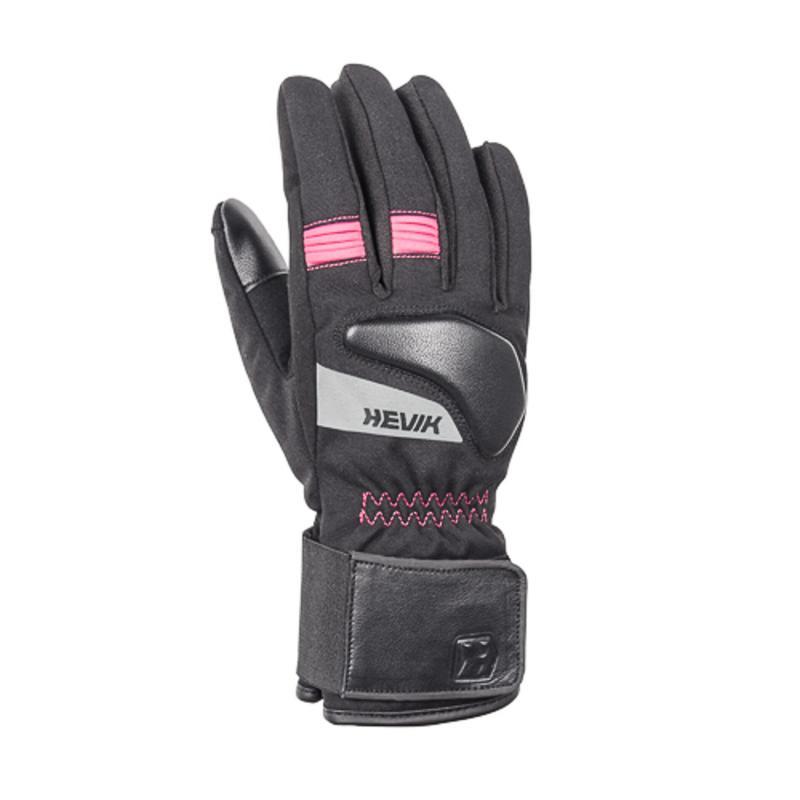 Gants femme textile Hevik Minerva noir/rose