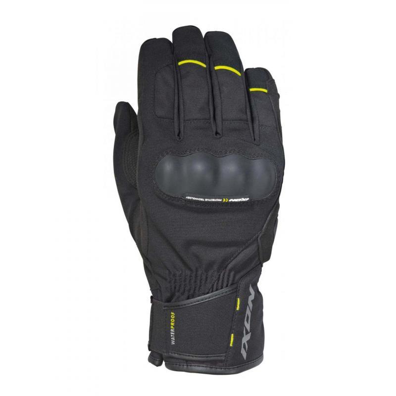 Gants hiver Ixon Pro Russel noir/jaune fluo