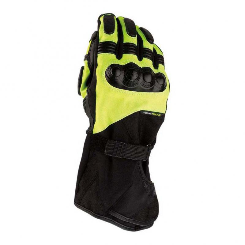 Gants Moose Racing ADV1 Long noir/jaune fluo