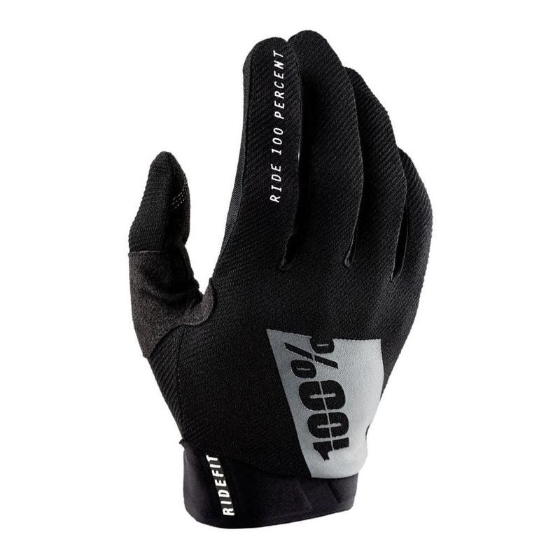 Gants moto cross 100% Ridefit noir