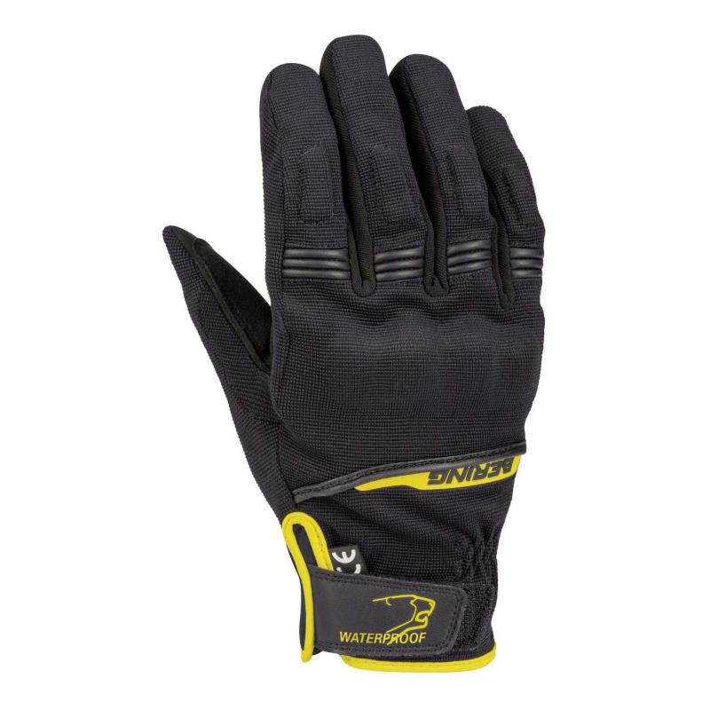 Gants textile Bering Borneo noir/jaune fluo