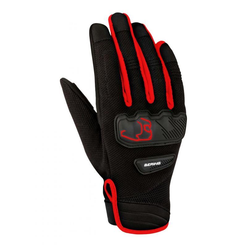 Gants textile Bering York noir/rouge