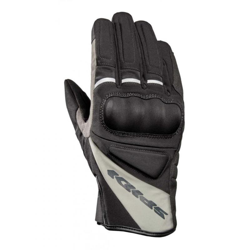 Gants textile/cuir Spidi Mistral noir/gris