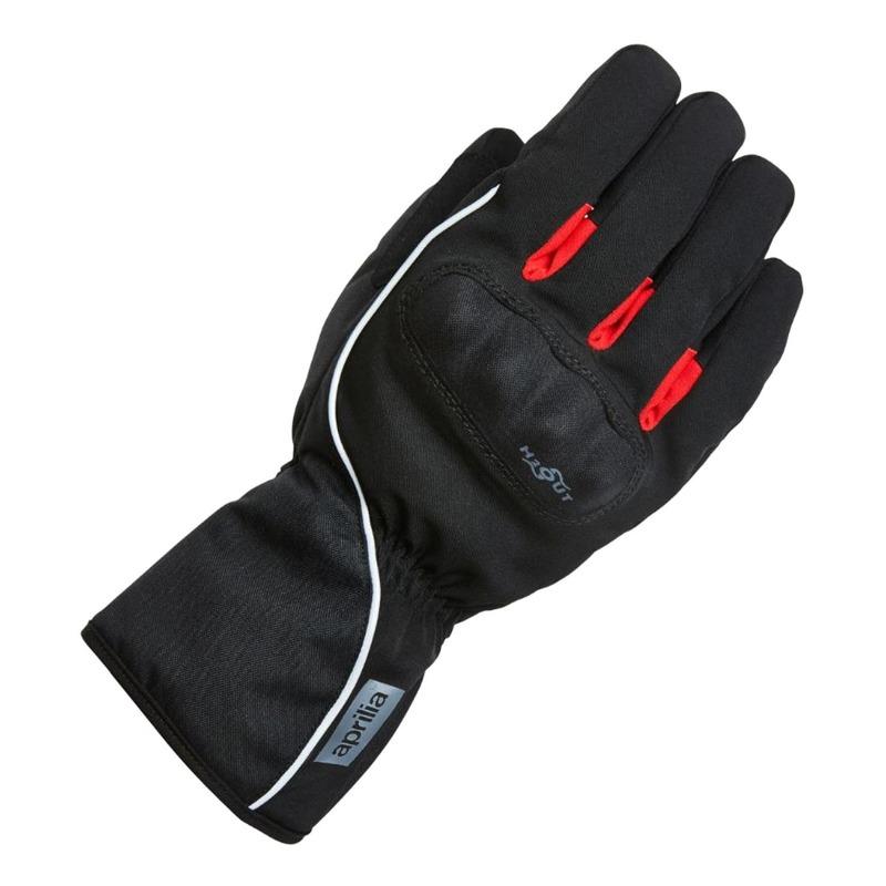 Gants textile hiver Aprilia noir/rouge