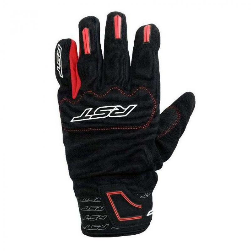Gants textile RST Rider rouge/noir