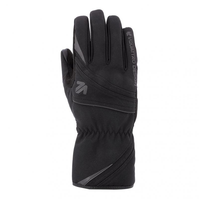 Gants textile V'Quattro Lead noir