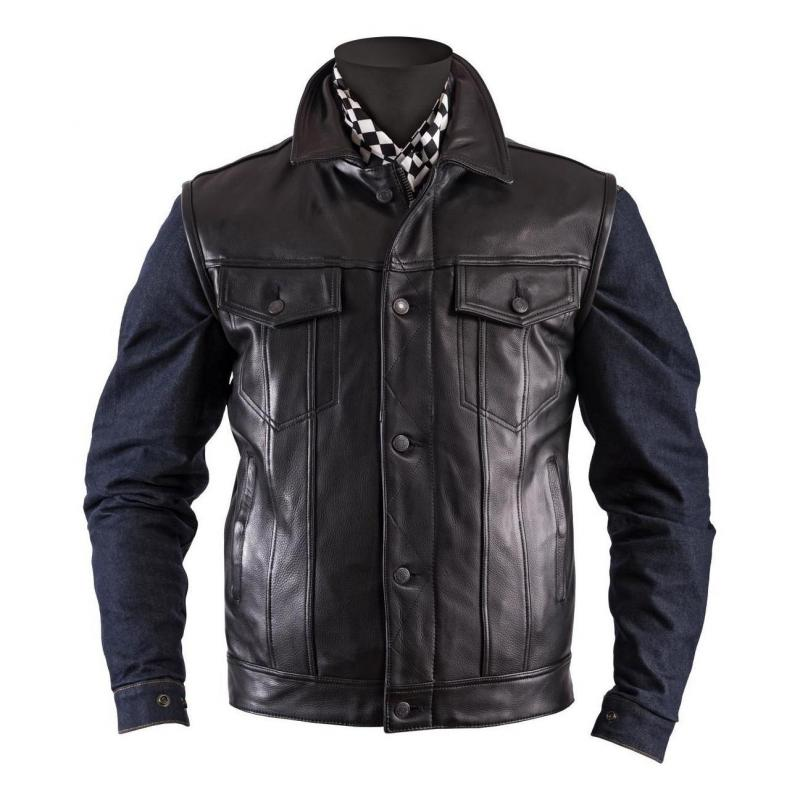 Gilet cuir Helstons Waistcoat noir