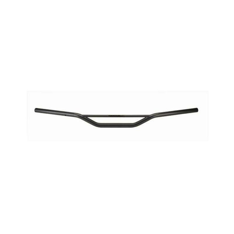 Guidon Tommaselli Ø22 acier noir avec barre hauteur moyenne