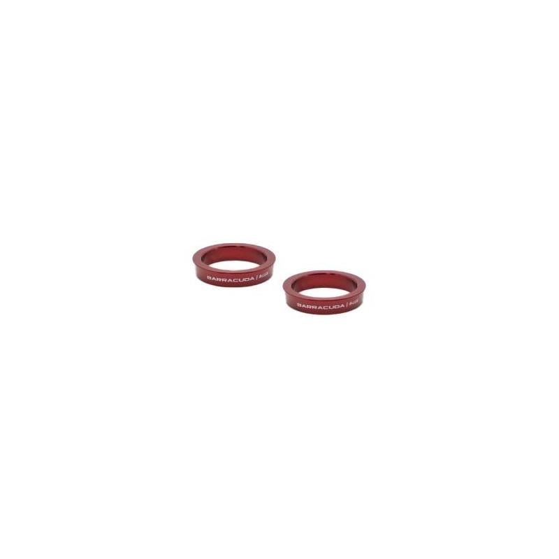 Inserts aluminium rouge pour repose-pieds Barracuda