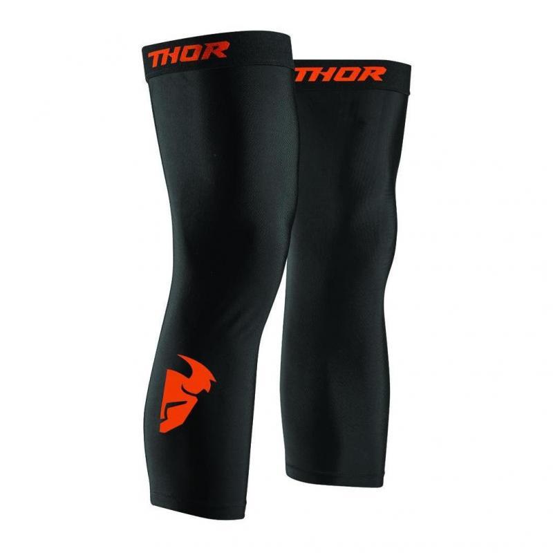Jambières de compression Thor noir/rouge orange