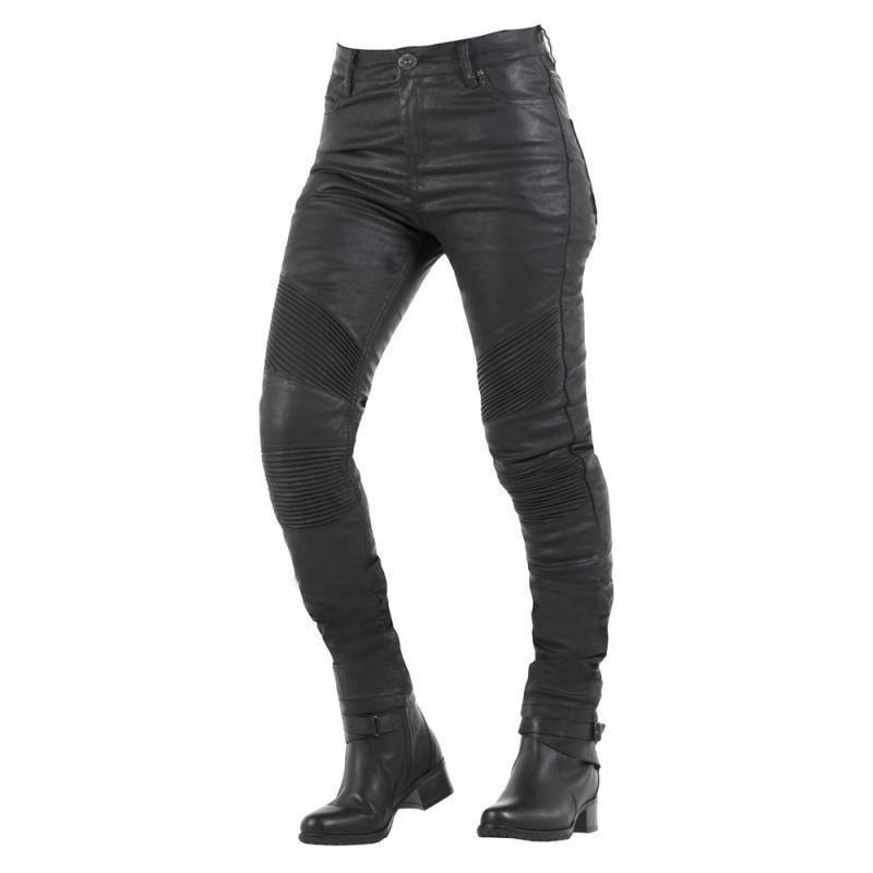 Jean femme Overlap STRADALE BLACK WAXED