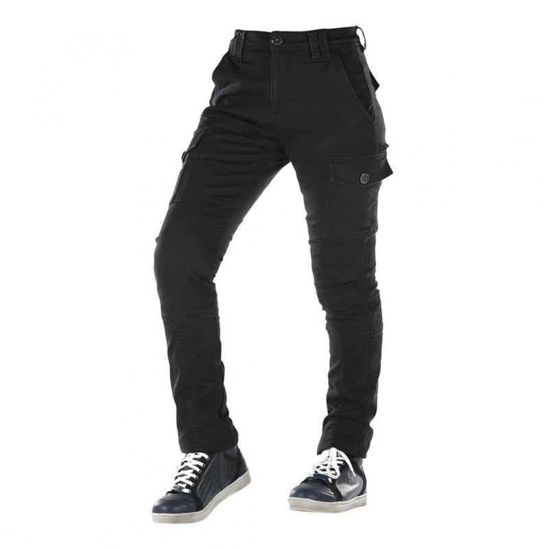 Jeans moto femme Overlap Carpenter Lady noir