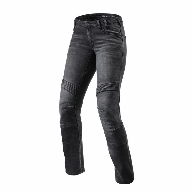 Jeans moto femme Rev'it Moto Ladies longueur 32 (court) noir