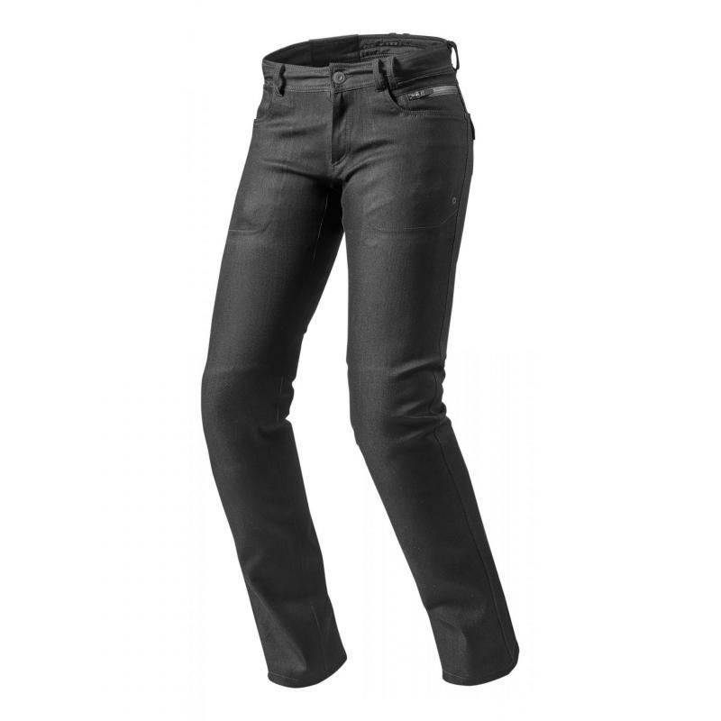 Jeans moto femme Rev'it Orlando H20 Ladies longueur 32 (court) noir