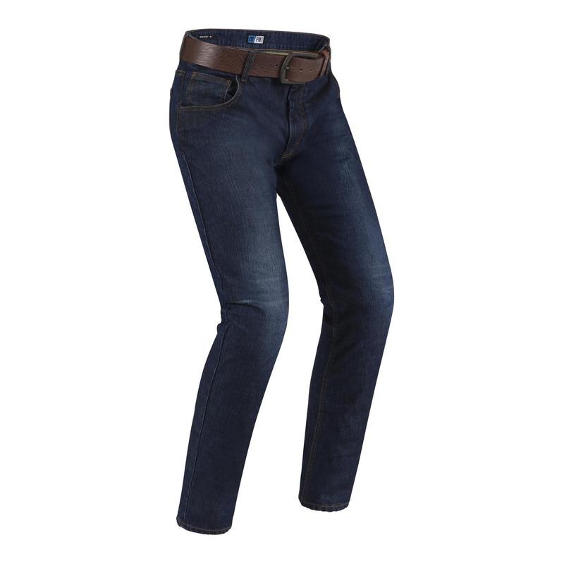 Jeans moto PMJ Deux bleu (longueur 34 standard)