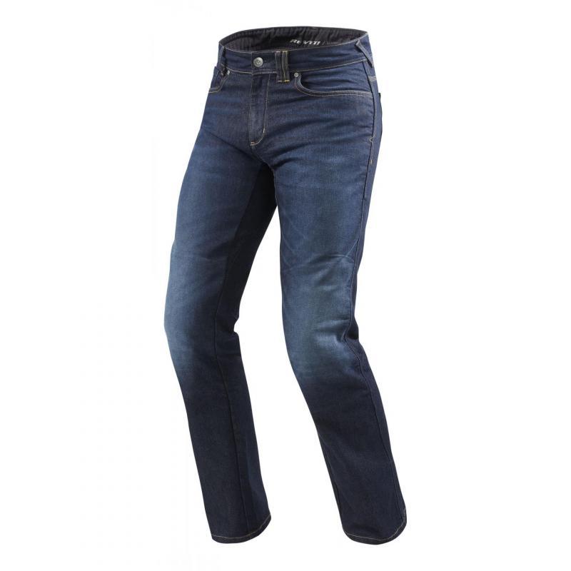 Jeans moto Rev'it Philly 2 LF longueur 34 (standard) bleu foncé