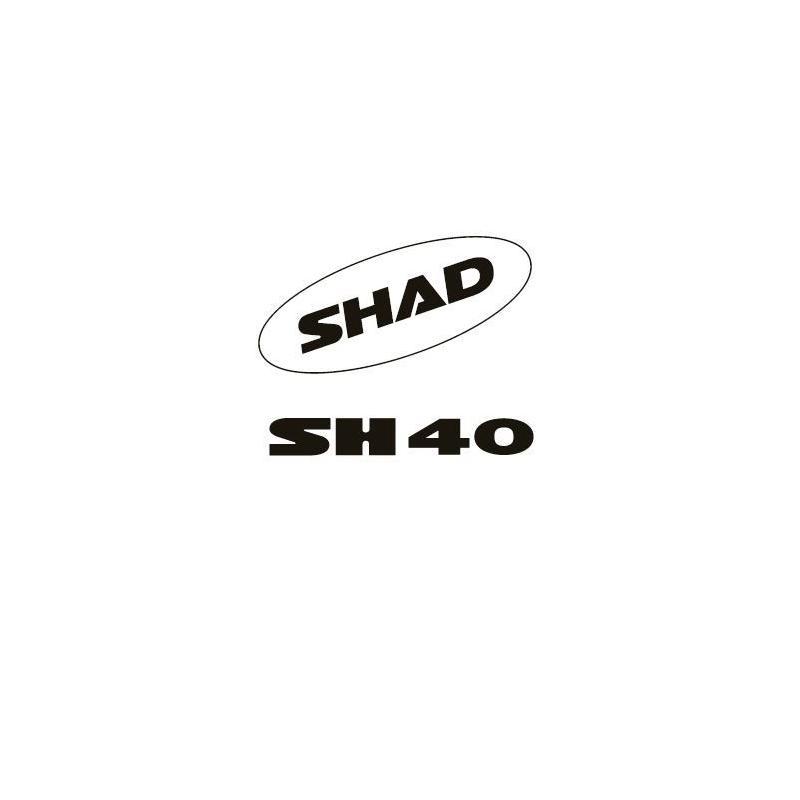 Kit autocollant Shad pour top case SH40 blanc