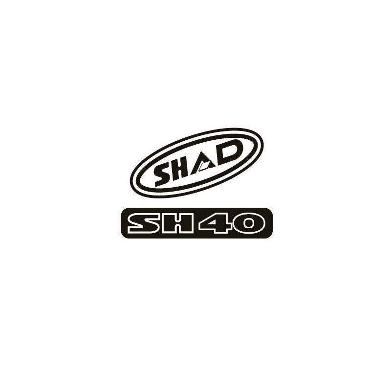 Kit autocollant Shad pour top case SH40 rouge