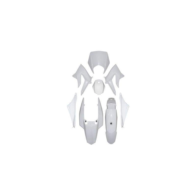 Kit carénage 1Tek Origine blanc brillant Derbi Senda DRD 2011-