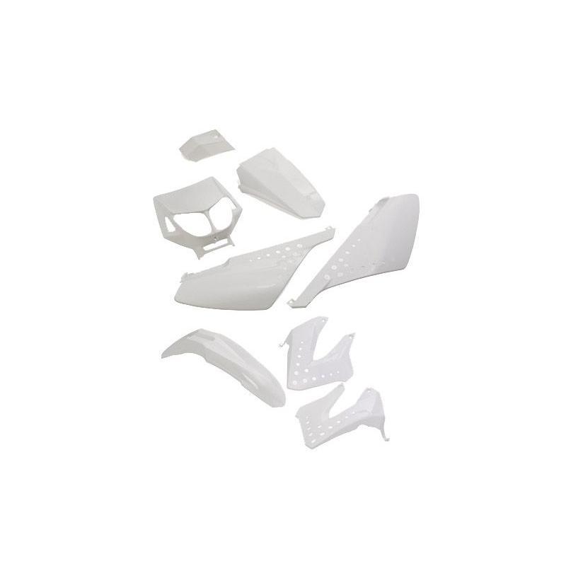 Kit Carénage blanc Derbi Senda x8