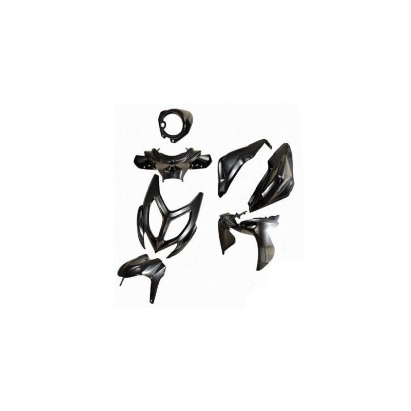 Kit carénage NITRO/AEROX à partir de 2013 noir peint 7 pièces