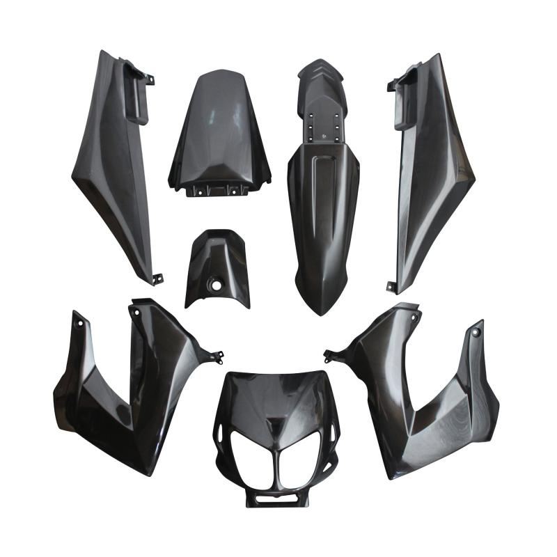 Kit carrosserie 8 pièces noir brillant adaptable senda drd x-treme/x-race