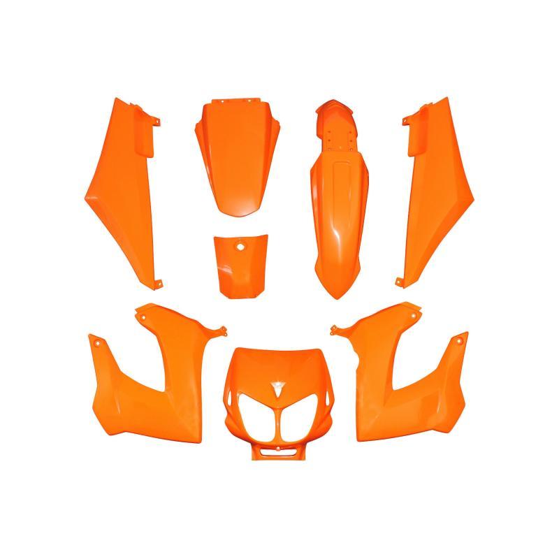 Kit carrosserie 8 pièces orange brillant adaptable senda drd x-treme/x-race