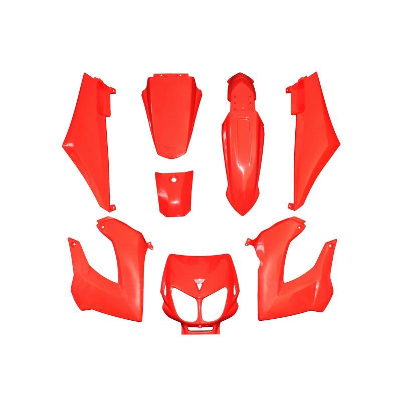 Kit carrosserie 8 pièces rouge brillant adaptable senda drd x-treme/x-race