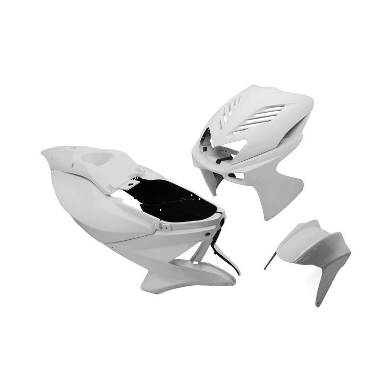 Kit carrosserie Replay design 8 pièces blanc pour Nitro/Aerox