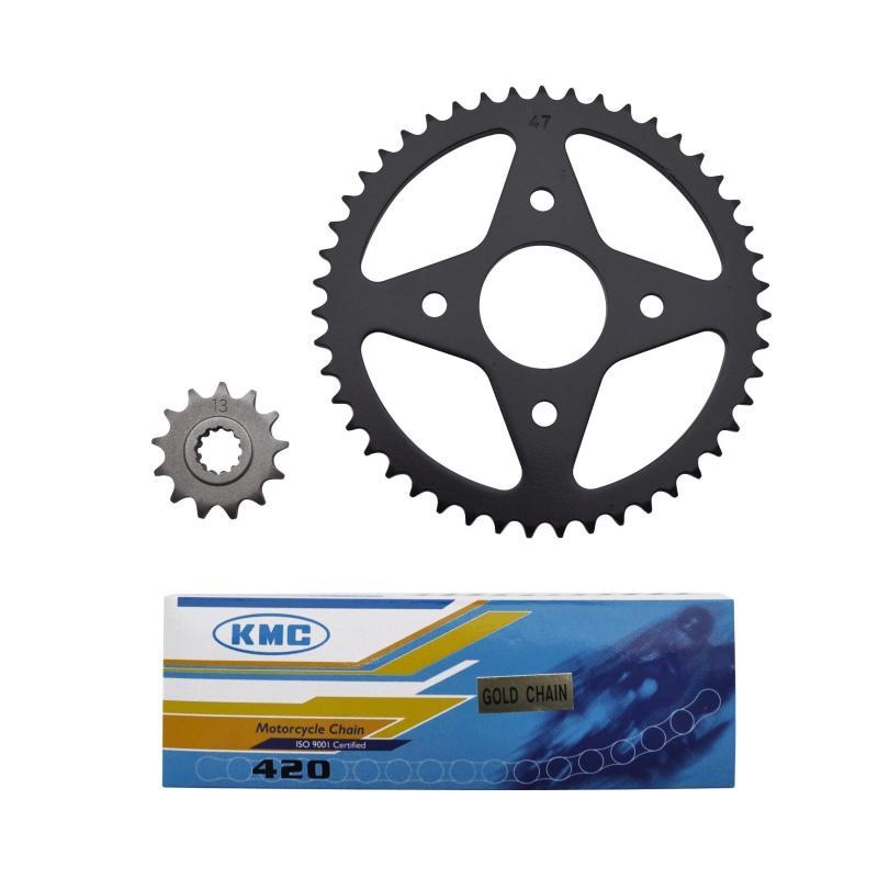 Kit chaîne 1Tek pas 420 13x47 adaptable Xpower/TZR