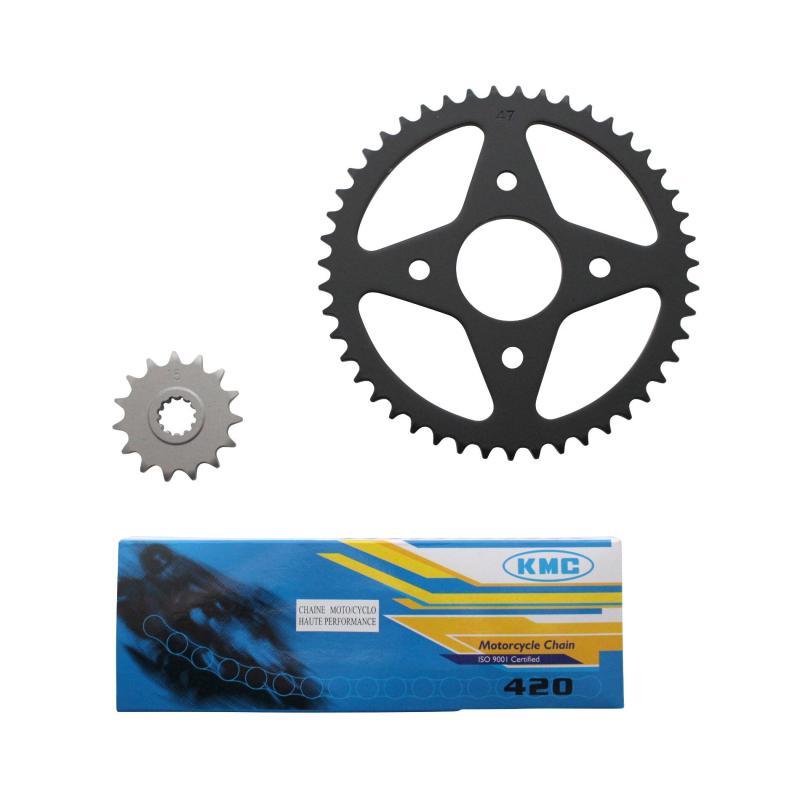 Kit chaîne 1Tek pas 420 15x47 adaptable Xpower/TZR