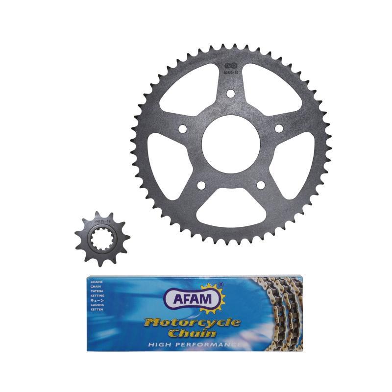 Kit chaîne AFAM pas 420 11x52 adaptable XR7 08-13