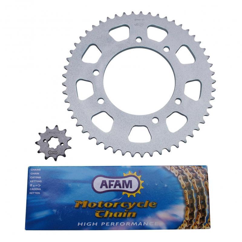 Kit chaîne Afam pas 420 11x53 alésage 102 mm adaptable senda drd r - drd sm