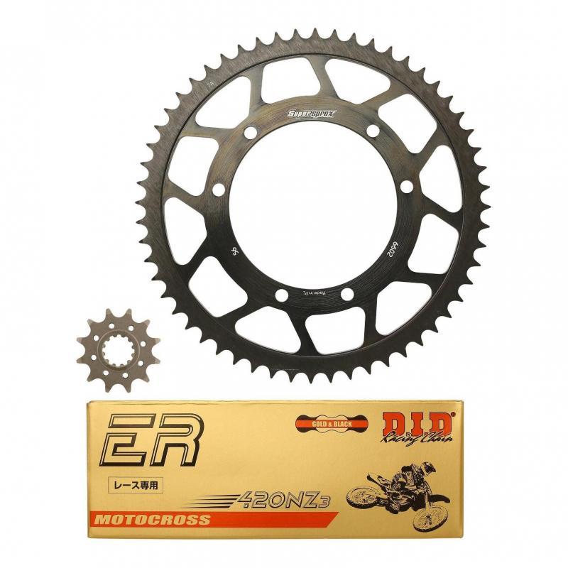 Kit chaîne DID acier Bultaco Sherco 50 Enduro / SM 03-04