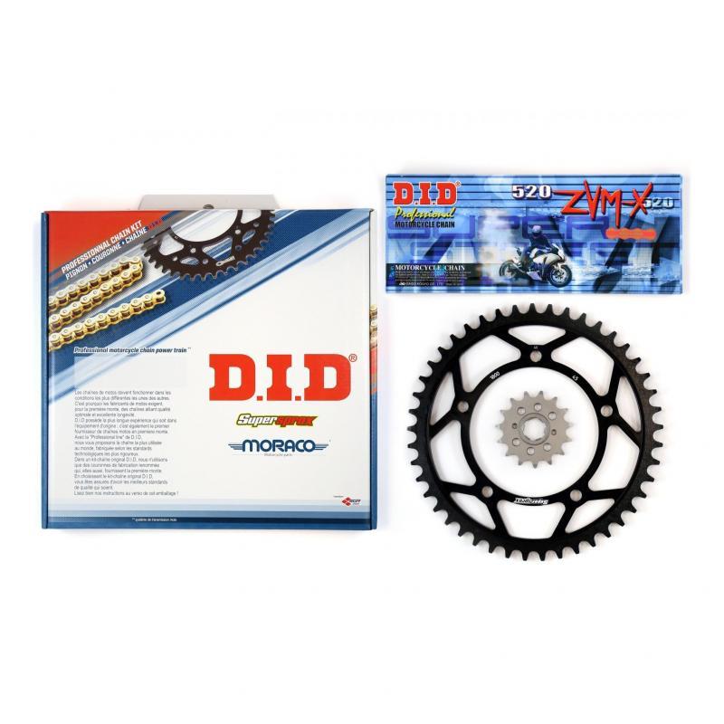 Kit chaîne DID acier Kawasaki 650 W 99-