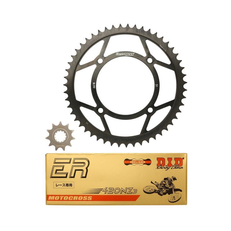 Kit chaîne DID alu Beta 50 RR Enduro Racing 05-