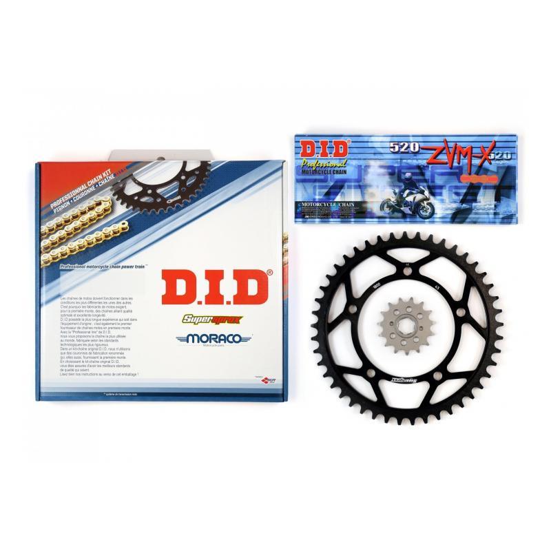 Kit chaîne DID alu KTM 125 GS 91-93