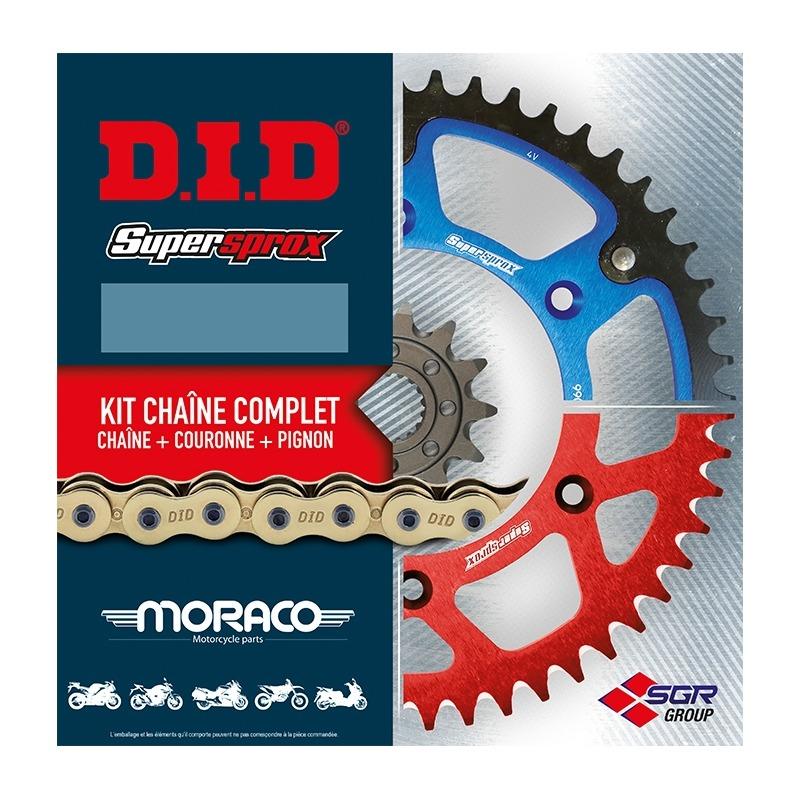 Kit chaîne DID type TT fermeture par rivet pour Honda 125 CBF 09-14