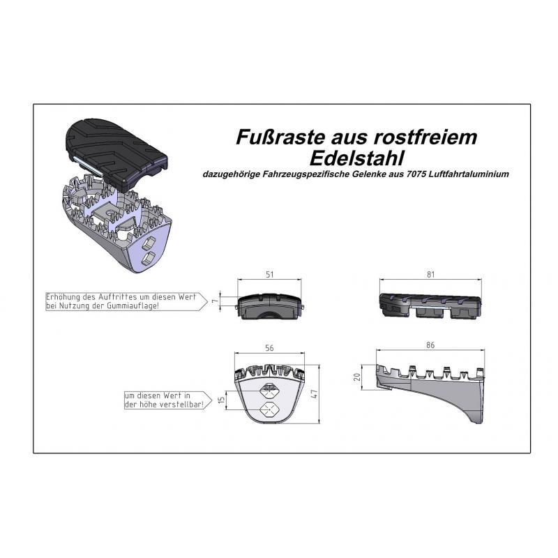 Kit de cale-pieds SW-MOTECH Honda XRV 650/750 87-03 XL600V 87-96 CRF1000L