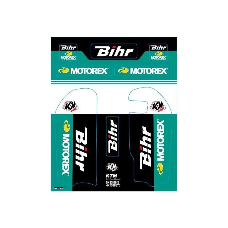 Kit de déco de fourche Kutvek Bihr/Motorex KTM SX65