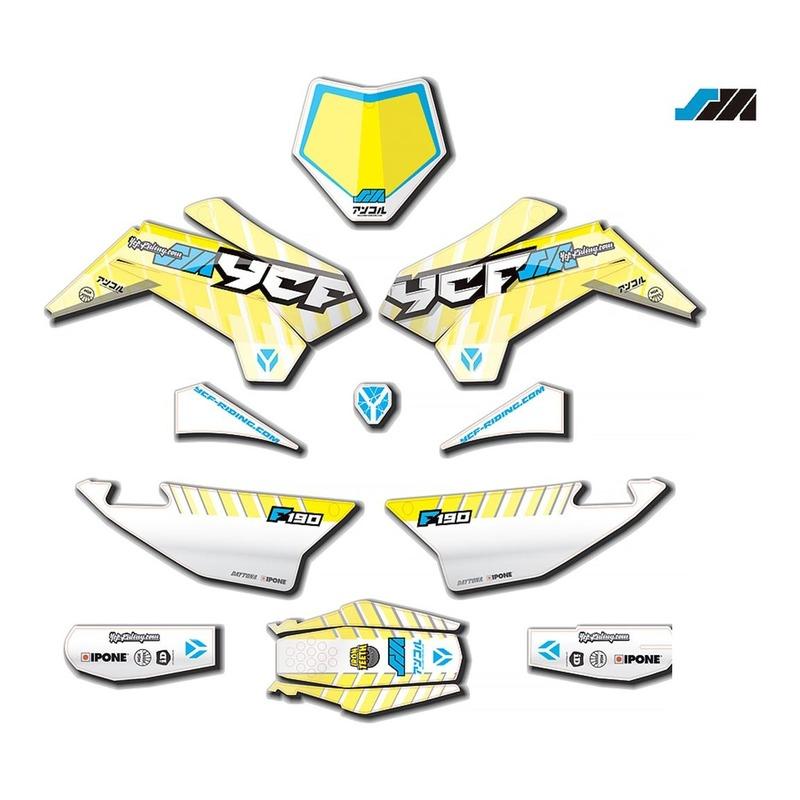 Kit déco 2021 YCF 190SM à partir de 2020 bleu/blanc