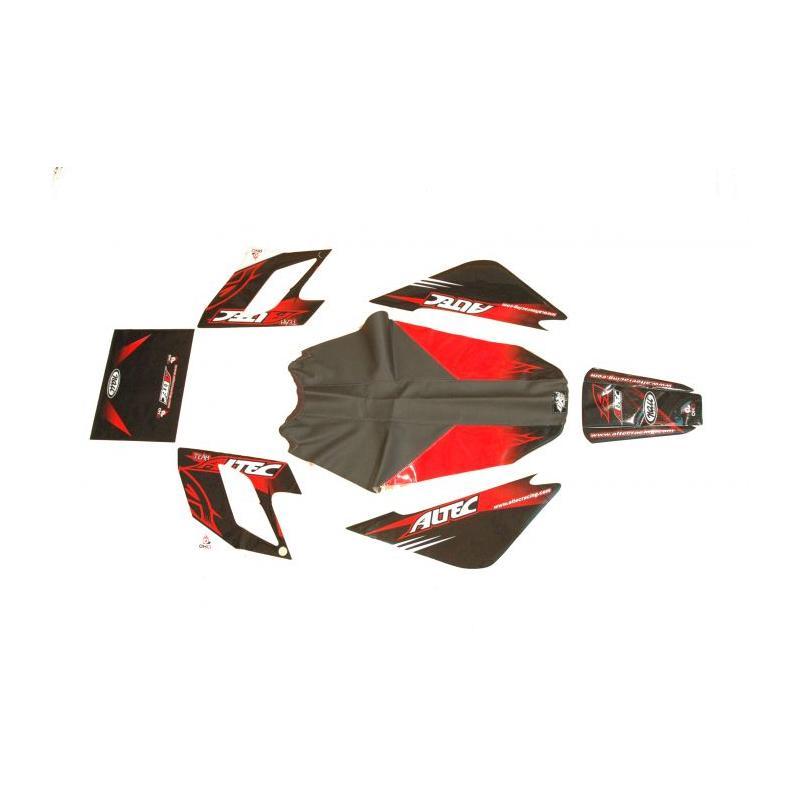 Kit déco Altec Racing Vintage Derbi DRD avec housse de selle