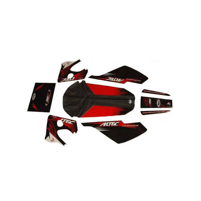 Kit déco Altec Racing Vintage Derbi Senda avec housse de selle