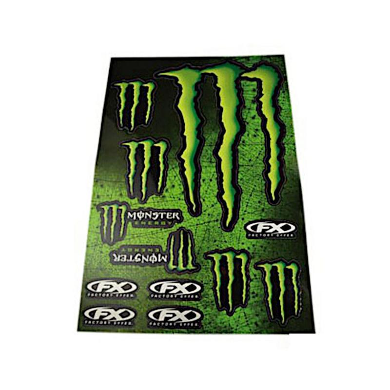 Kit déco autocollants Monster Energy 12 pièces